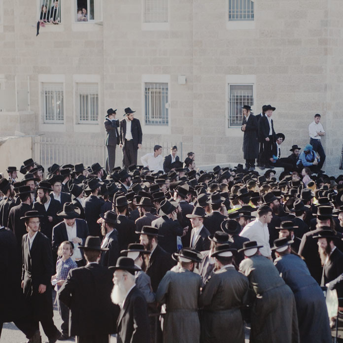Ashkenazi ultra-Orthodox Jews protest against allowing Sephardic ultra-Orthodox Jews into their schools in Jerusalem, 2010.