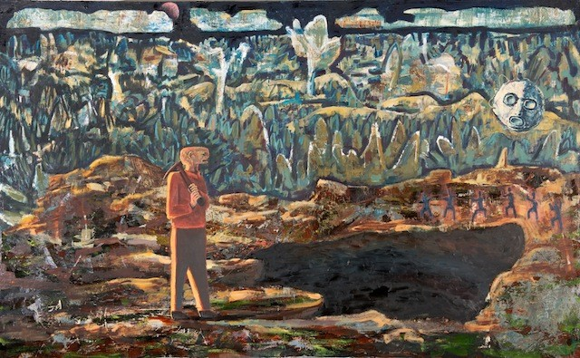 'Sama Sama Zama Zama' Oil on Canvas, 2011.
