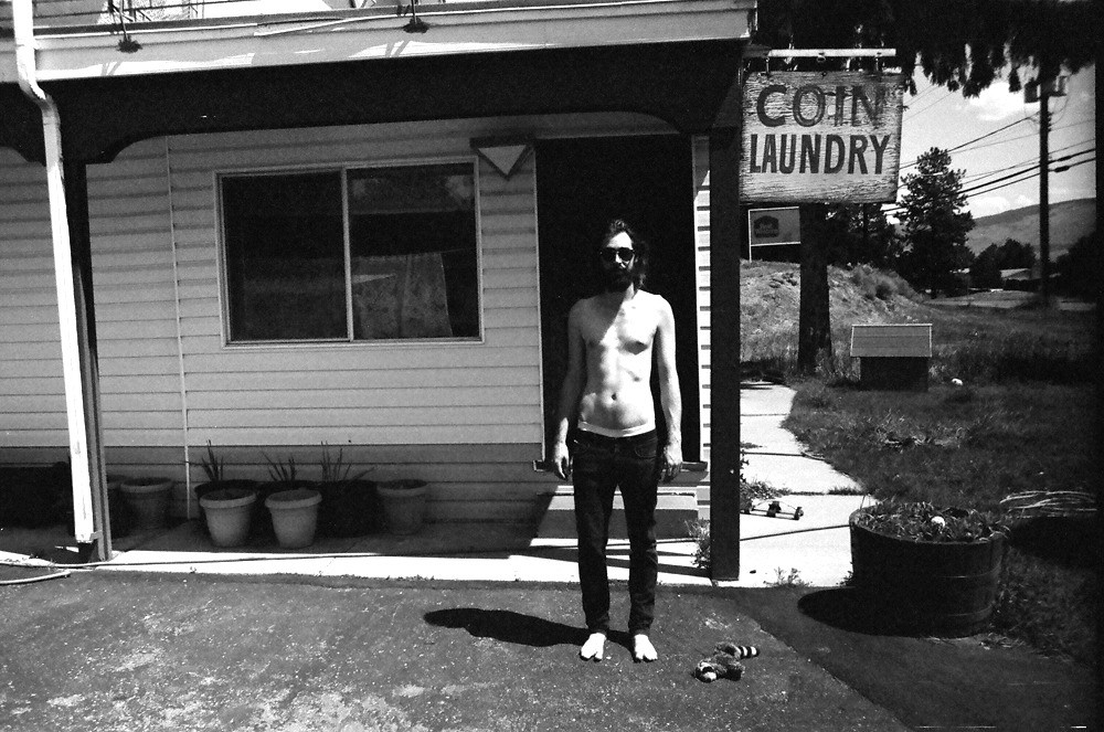 Laundry day for Andrew. The only washing machine in the motel was so shaky and noisy that we could hear it run from inside our room. It had to be screwed to the floor so it wouldn't wreck everything.