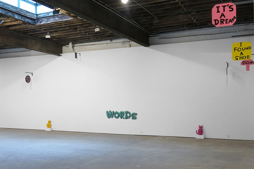 David Shrigley, Installation view, 'Signs', Anton Kern Gallery, 2012 Courtesy Anton Kern Gallery, New York