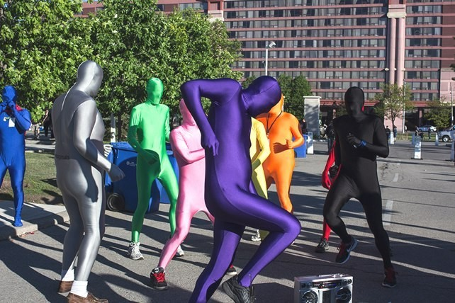 Brigada Morphsuit la Anime North.