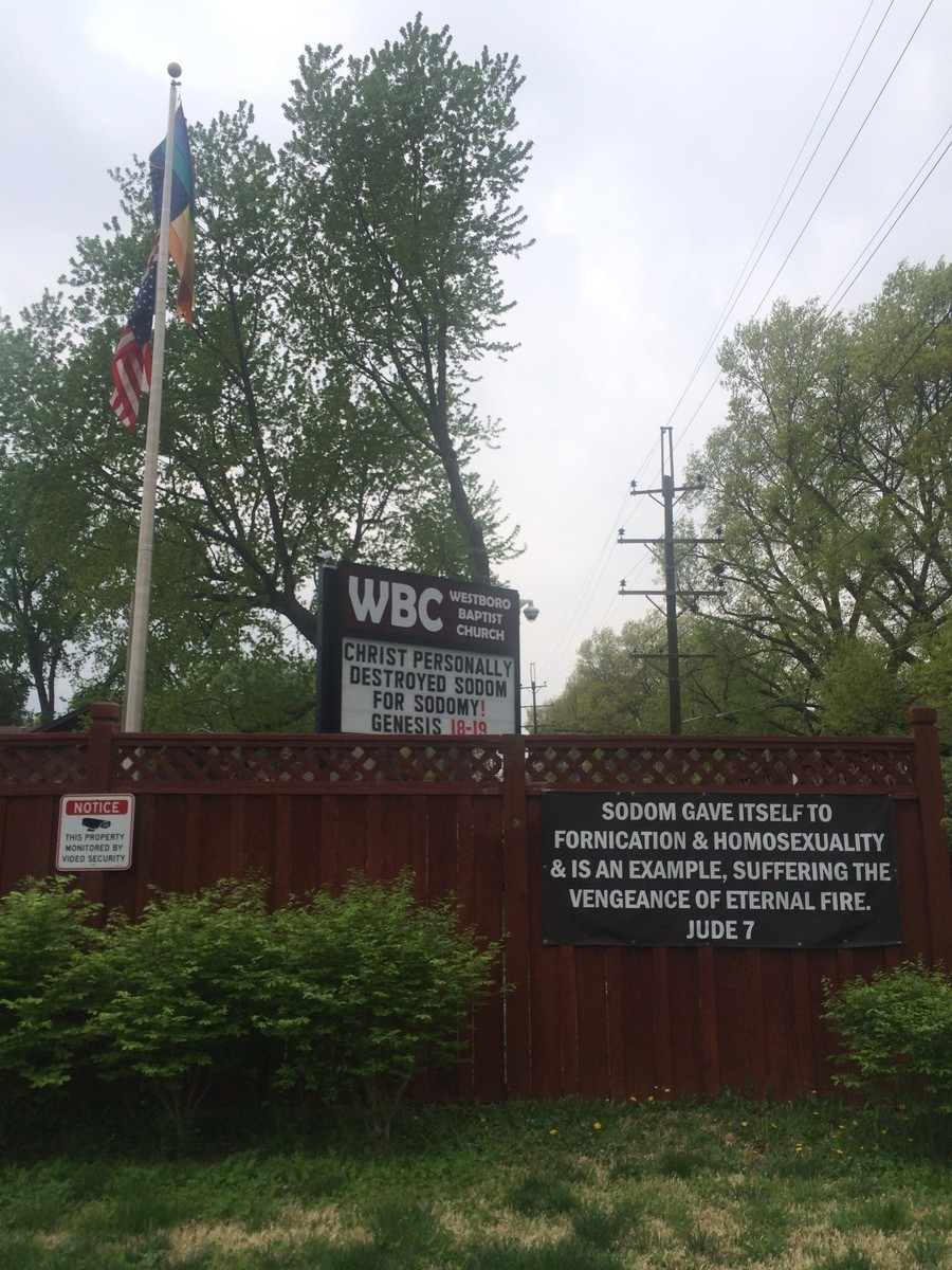 Street view of the Westboro Baptist Church, with some kind words for the community