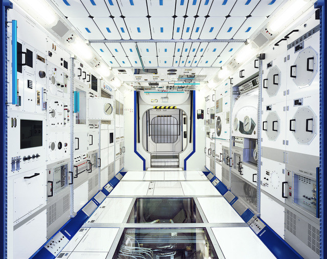 Full-scale model of an ISS module (Visitors' Center, Airbus Defense and Space, Bremen, Germany)