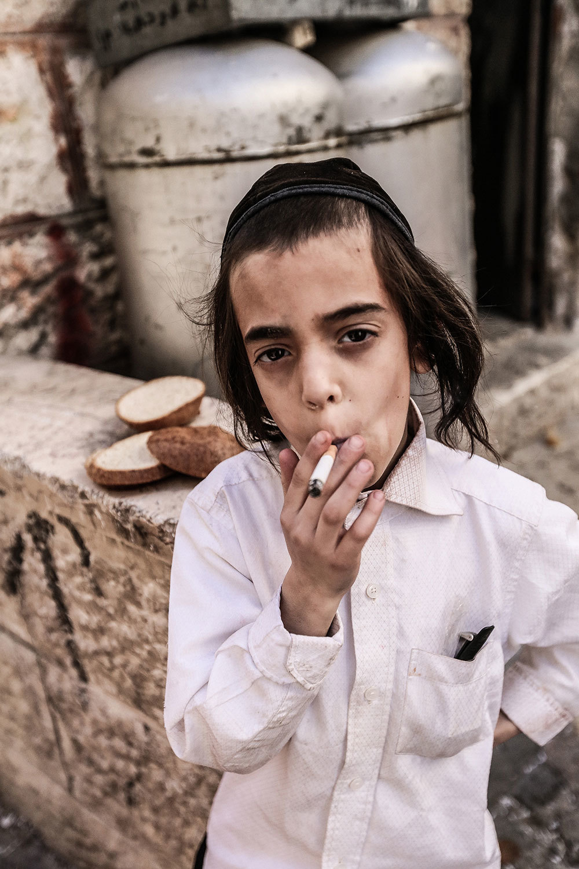 Kids In Jerusalem Celebrated Purim By Smoking Tons Of